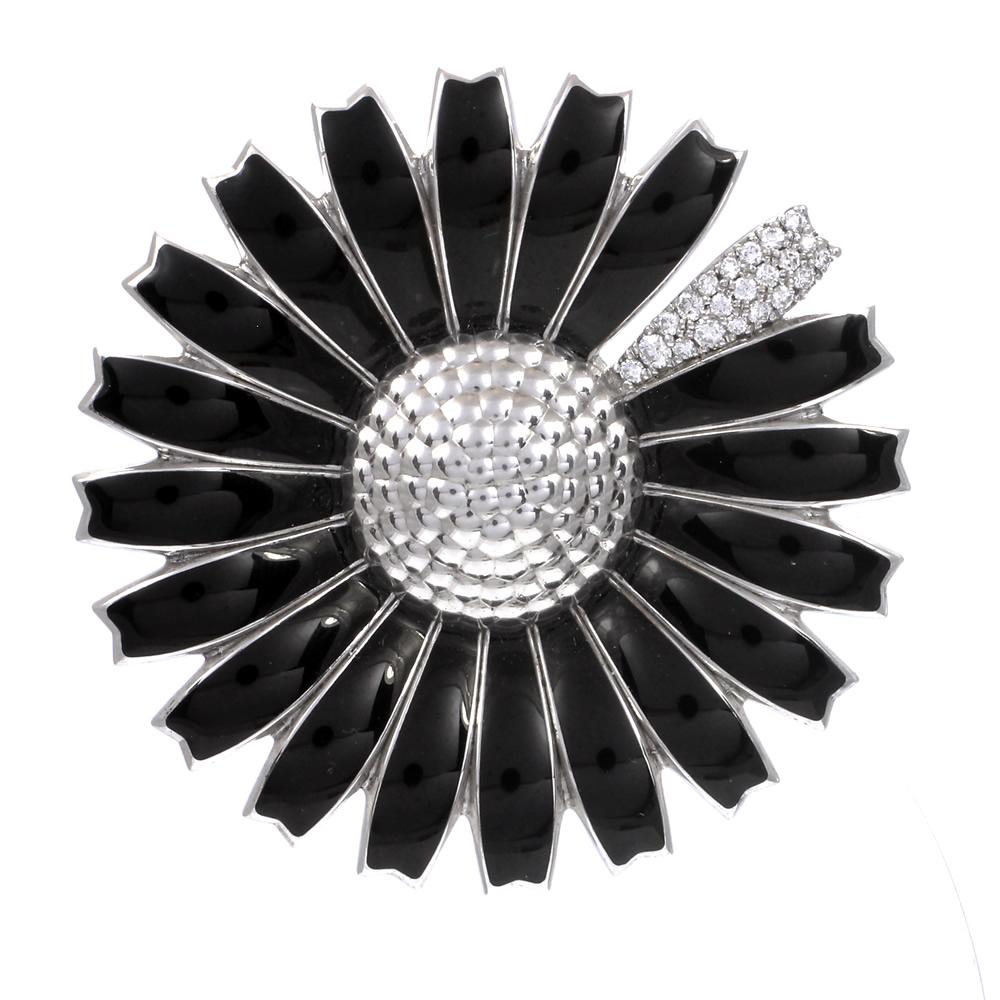 Georg jensen black daisy pendant brooch with pave diamond petal georg jensen black daisy pendant brooch with pave diamond petal d j massey son mozeypictures Choice Image