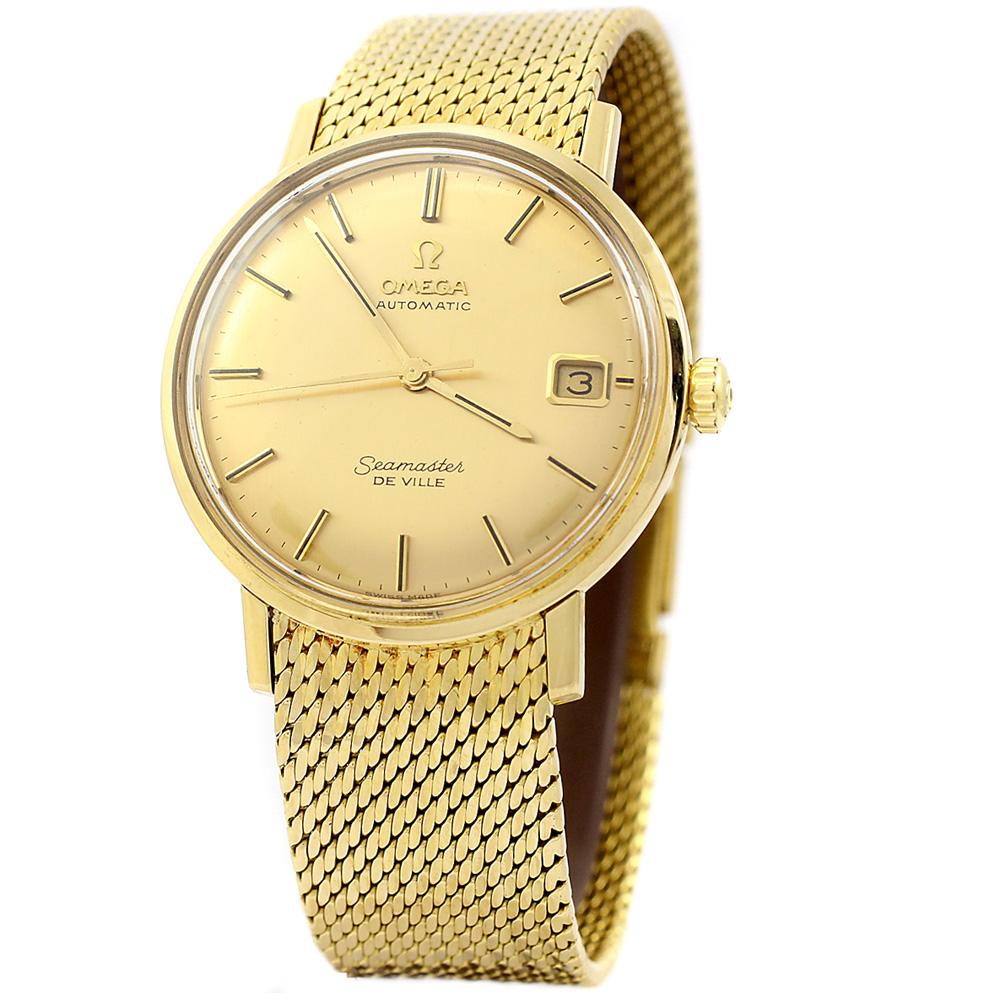 Omega Seamaster De Ville 18ct Gold Bracelet Watch