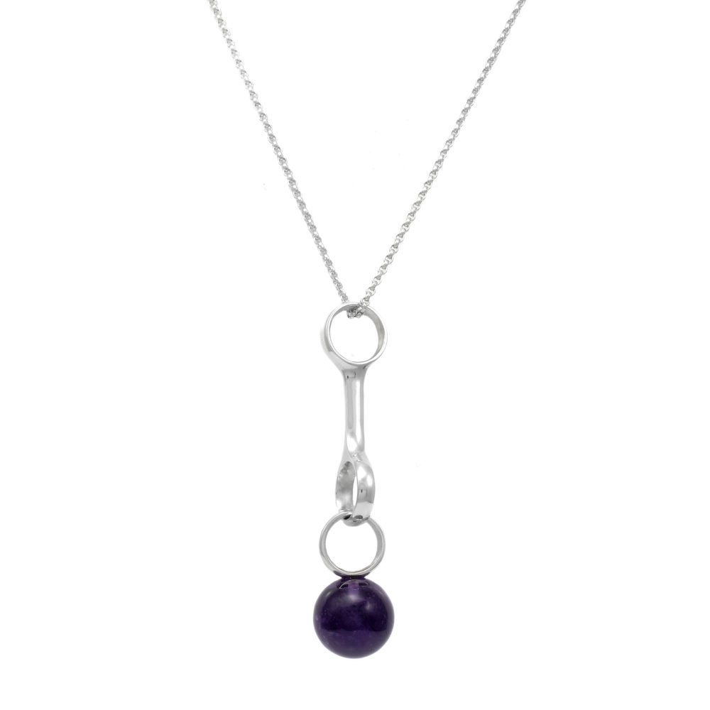 Georg jensen sphere sterling silver amethyst pendant necklace georg jensen sphere sterling silver amethyst pendant necklace d j massey son aloadofball Image collections